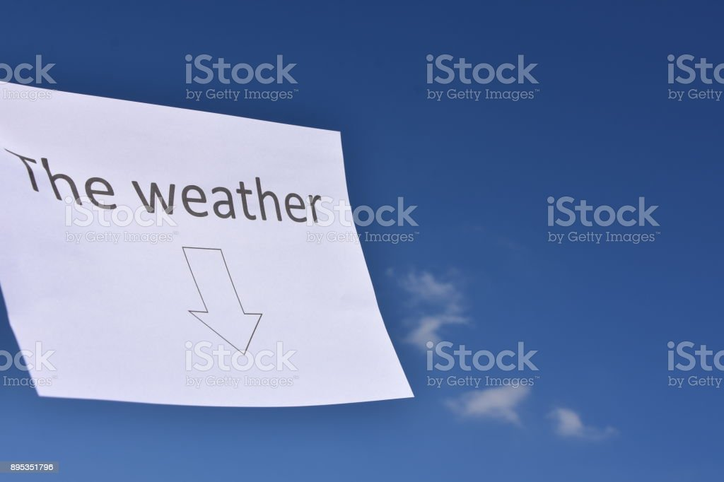 Under the weather concept stock photo