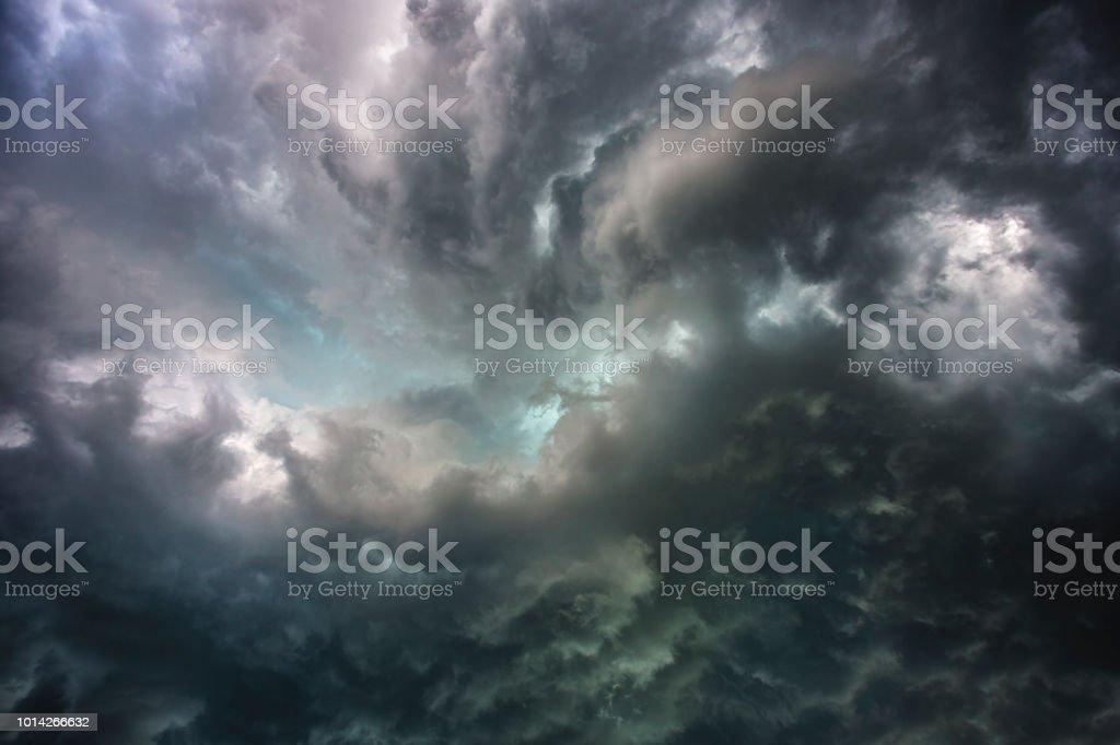 Under Thunderstorm stock photo