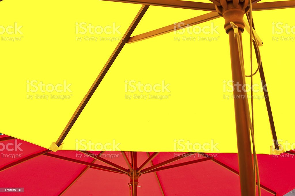 Under umbrella canopy. royalty-free stock photo