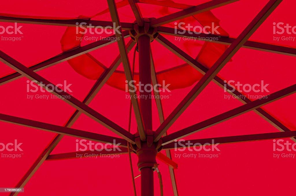 Under umbrella canopy. royalty-free stock photo