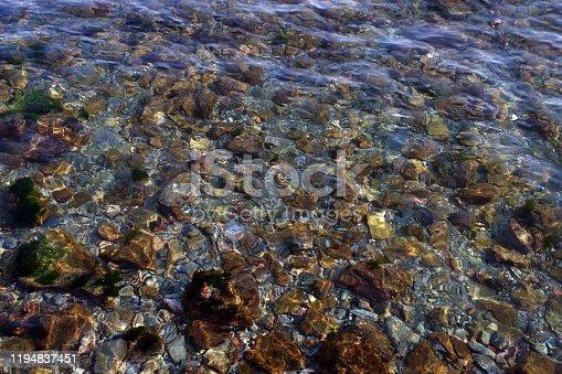 sea surface and rocks