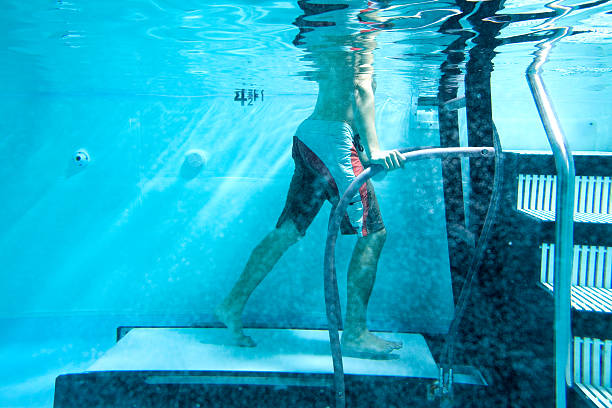 under water treadmill woman using the physical therapy under water treadmill. Please view these along with all alternative therapy stock pictures, royalty-free photos & images