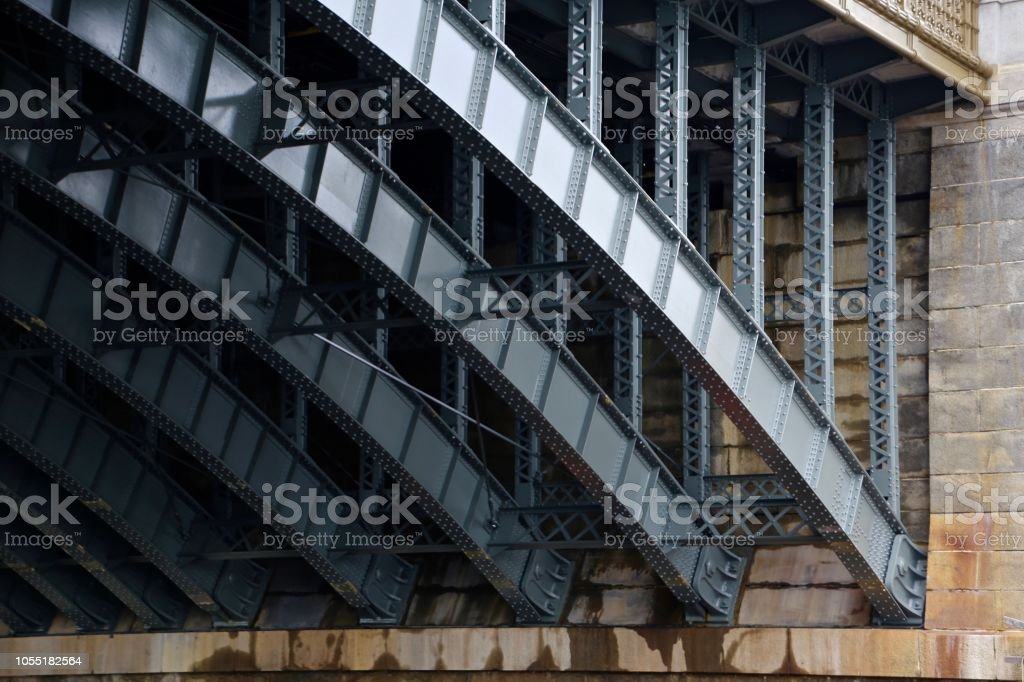 Underbelly of a Bridge stock photo