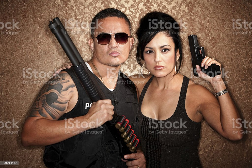 Undercover Cops royalty-free stock photo