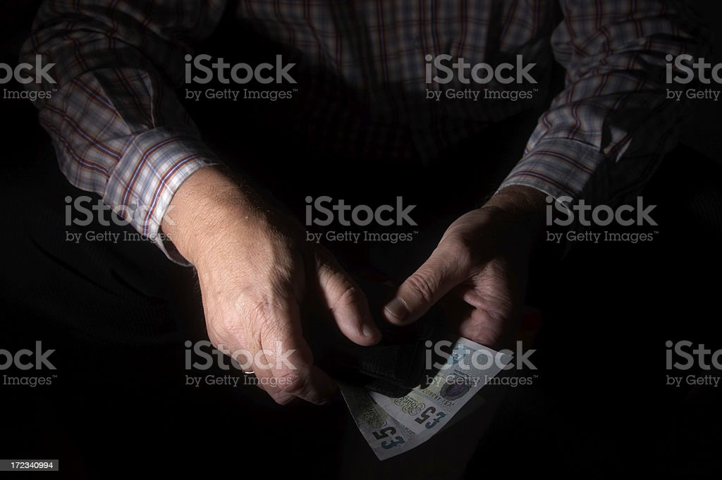 Undercover currency stock photo
