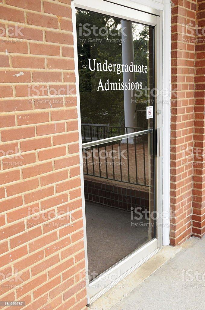 Undergraduate admissions office stock photo