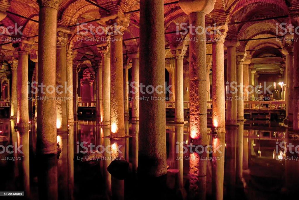 Underground Basilica Cistern stock photo
