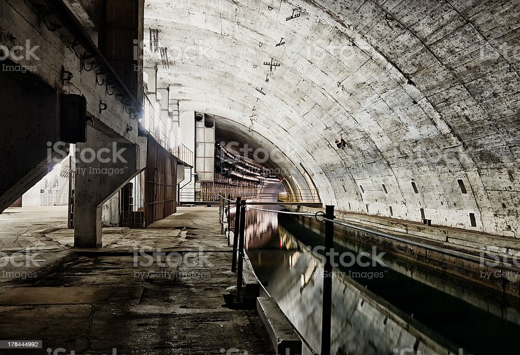 Underground bunker from cold war royalty-free stock photo