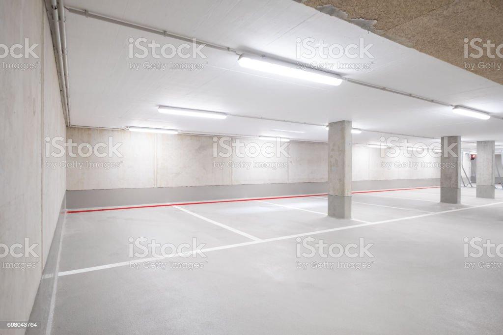 underground car parking deck stock photo