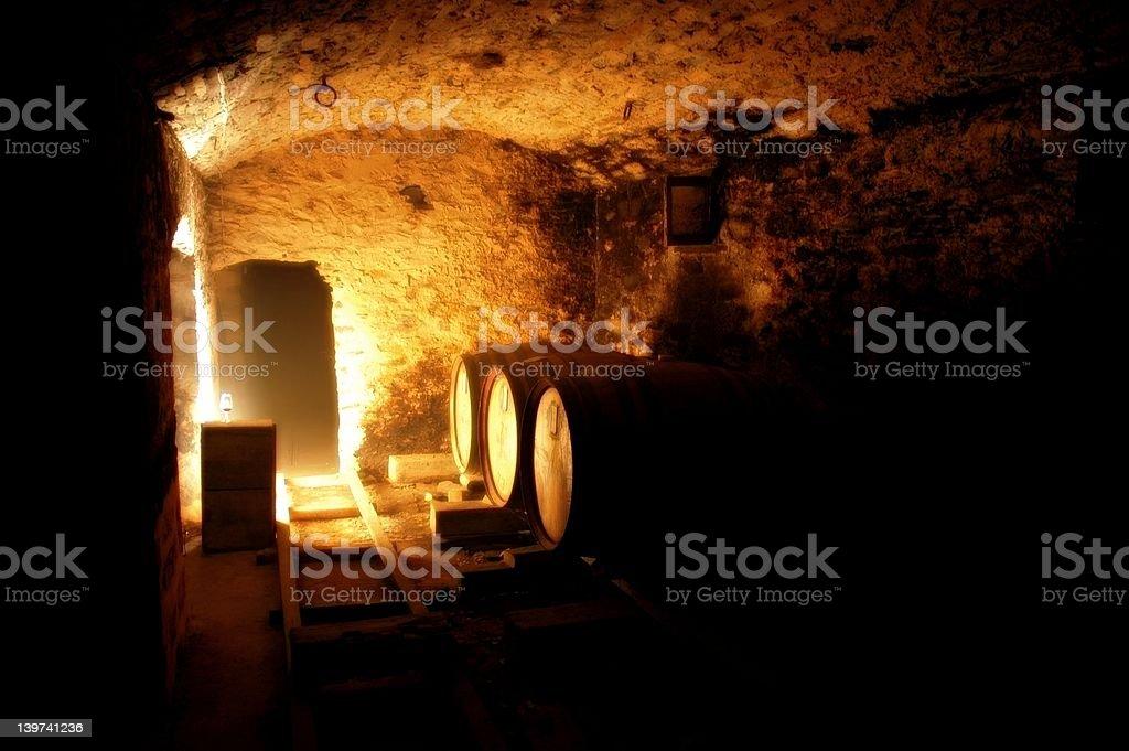 Underground Cellar stock photo