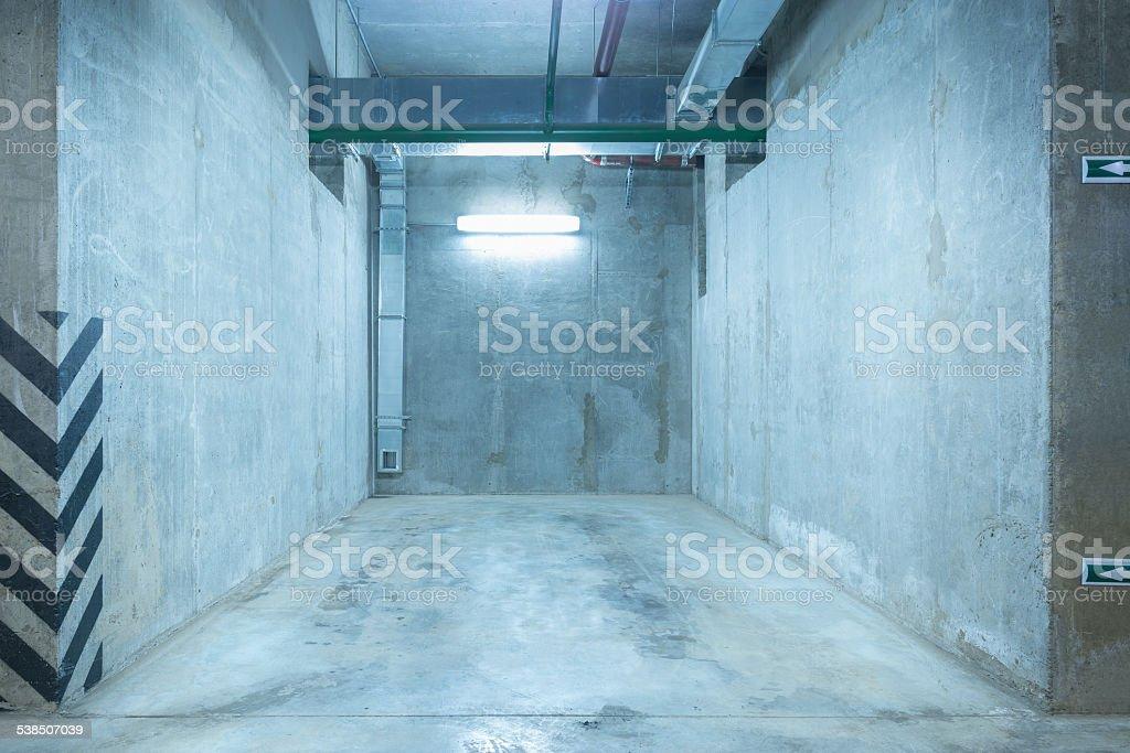 Underground city parking. stock photo