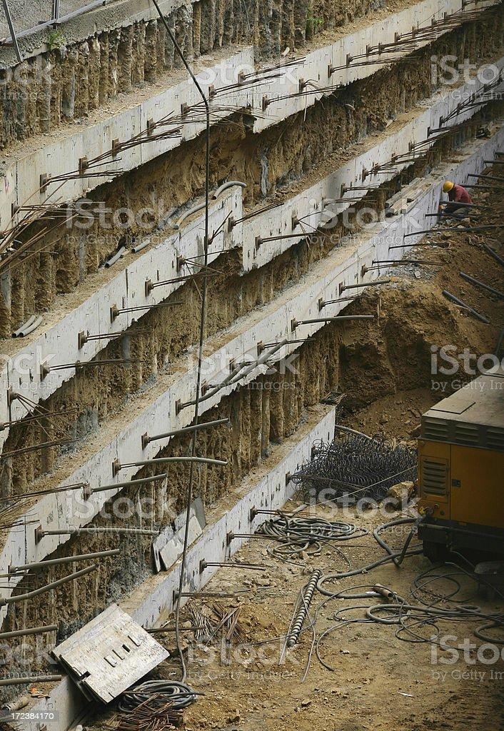 Underground Construction royalty-free stock photo