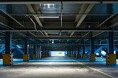 underground empty car park garage for mock up