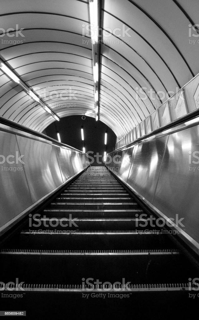 Underground Escalator - foto stock