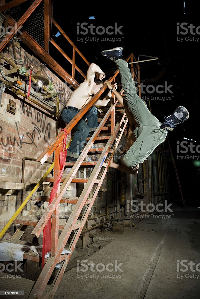 Underground fighters royalty-free stock photo