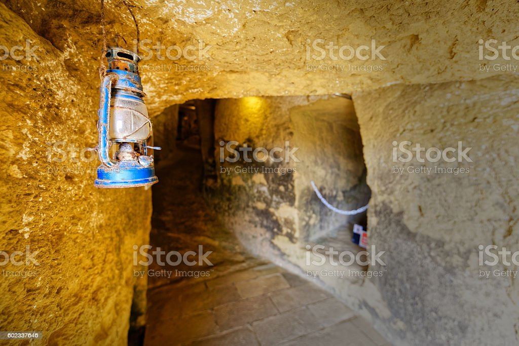 Underground fortress, help concept, direction stock photo