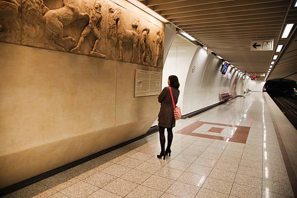 Underground gallery stock photo