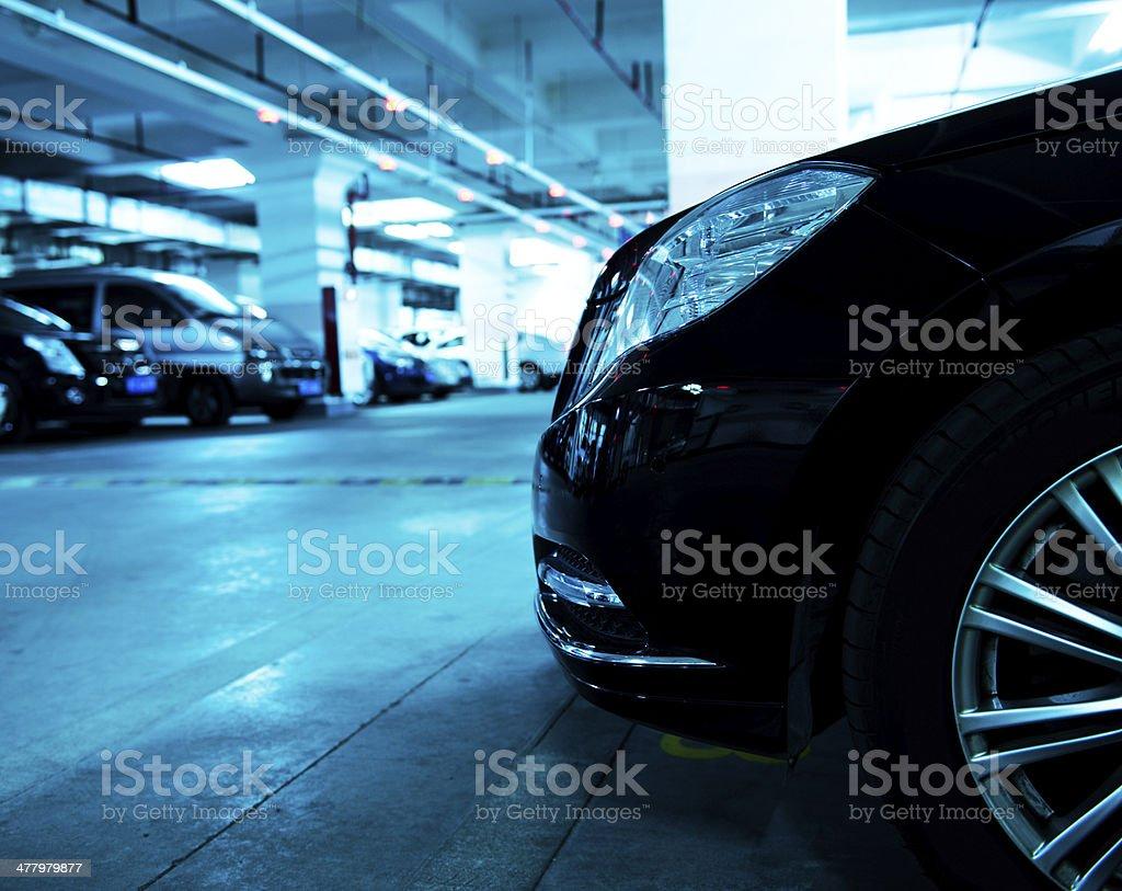 Underground garage stock photo