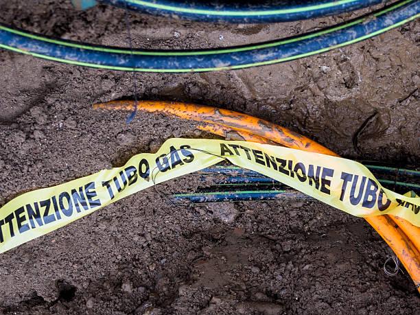 Metropolitana pipeline di gas - foto stock