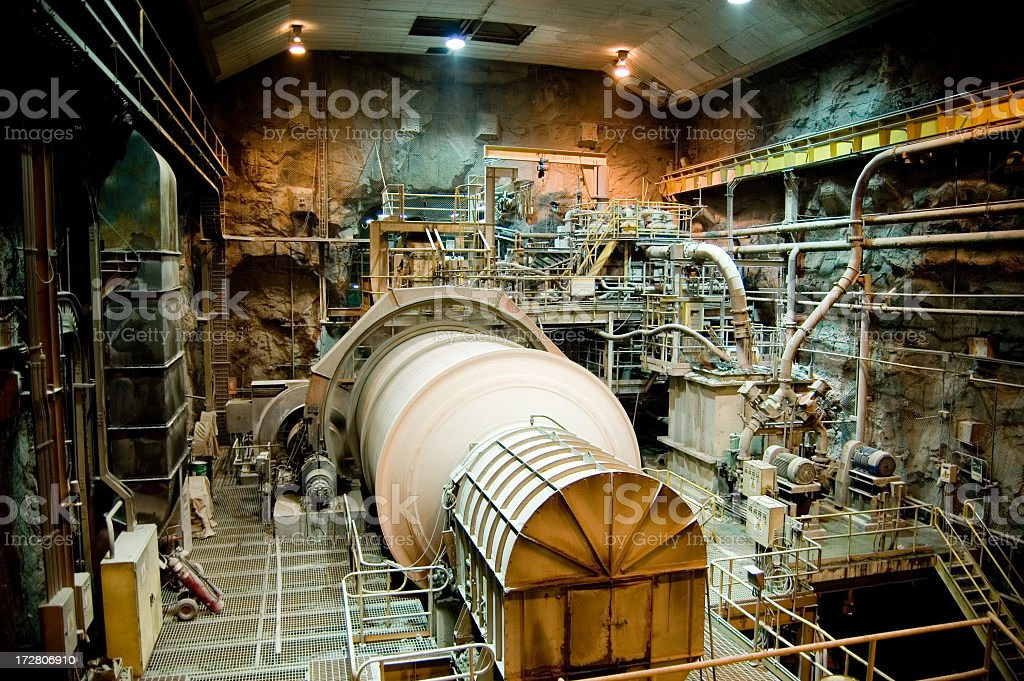 Underground Grinding Mill stock photo