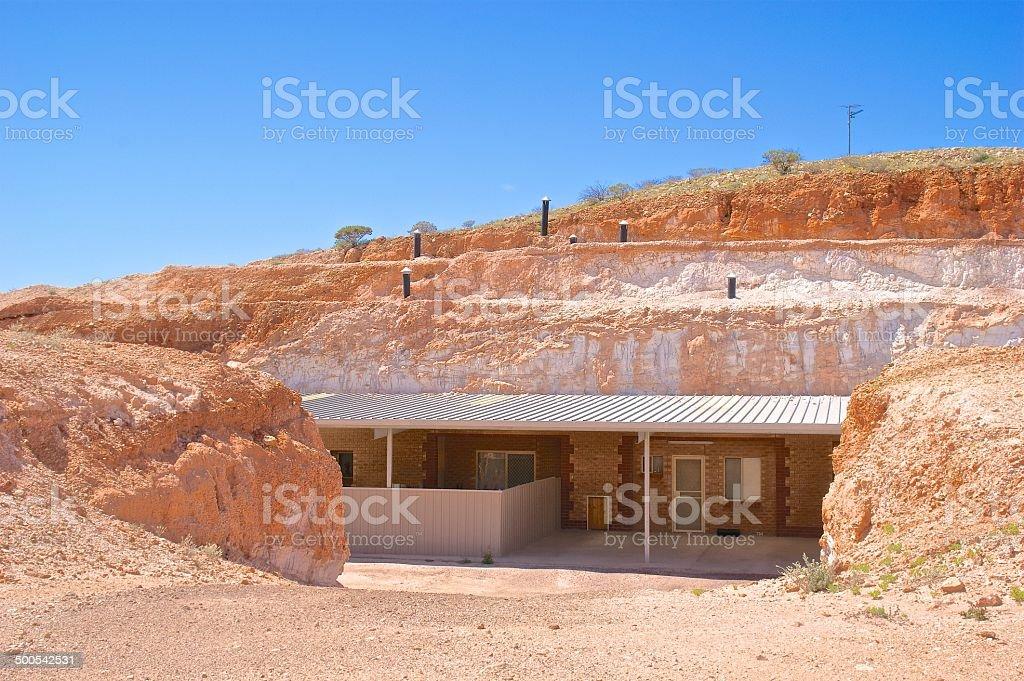 Underground house, Coober Pedy, Australia stock photo
