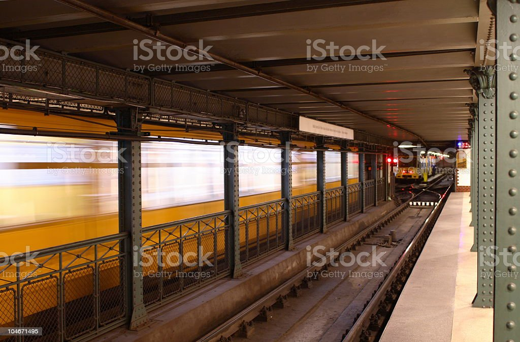 Underground in Budapest royalty-free stock photo