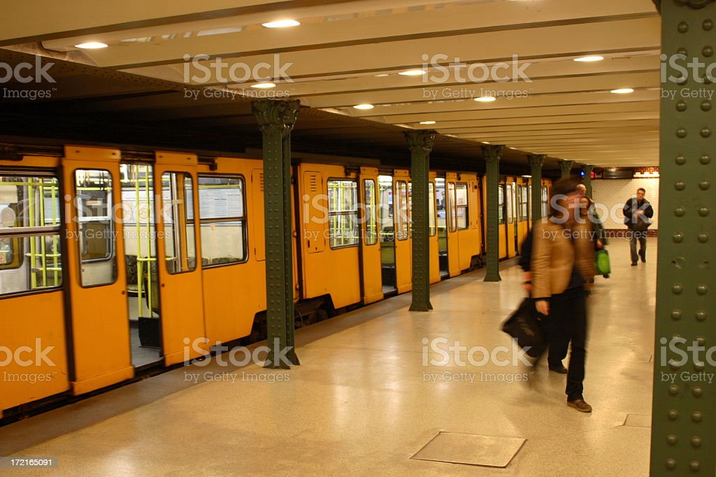 Underground in Budapest royalty-free stock photo