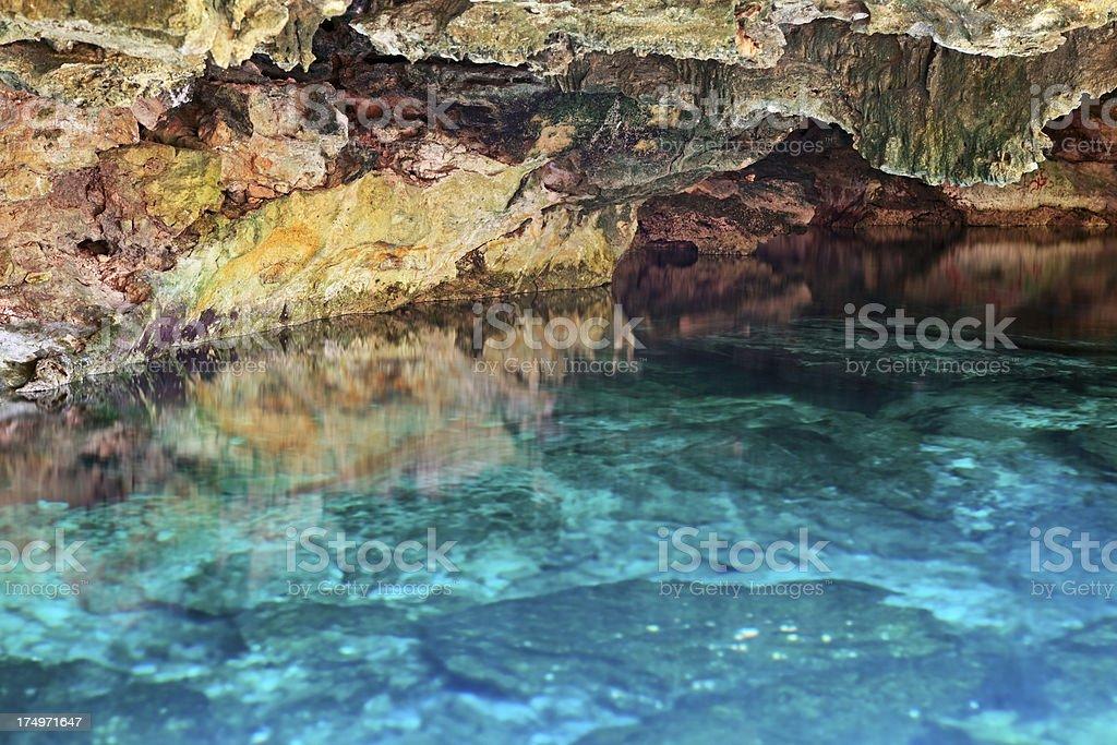 Underground lake, Yucatan stock photo