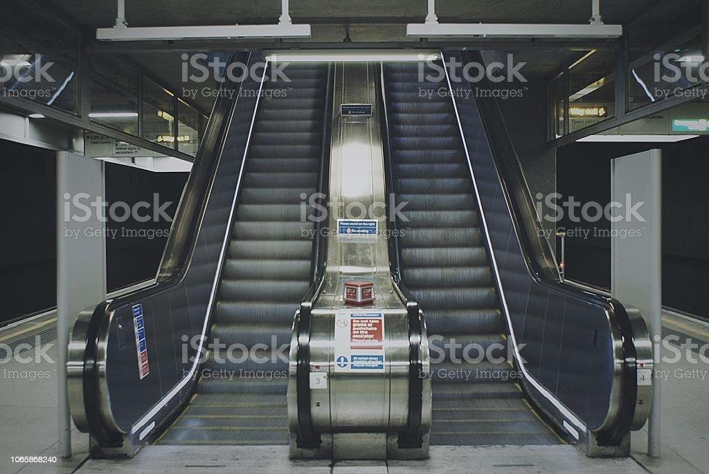 Underground metallic stock photo