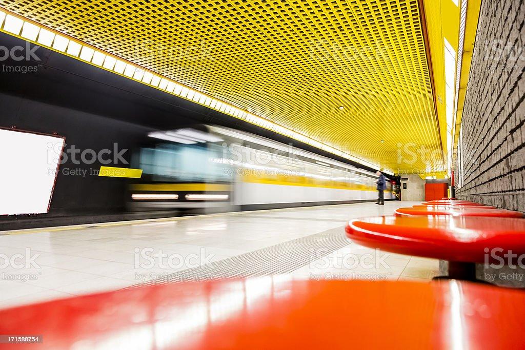 Underground metro station royalty-free stock photo