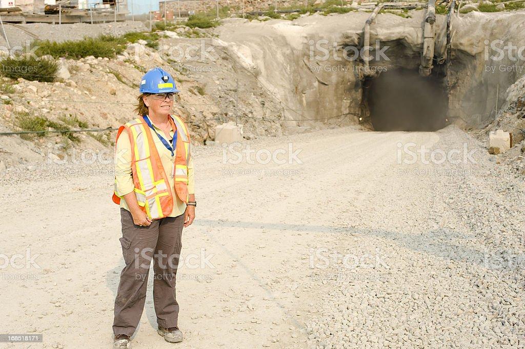 Underground Mine stock photo