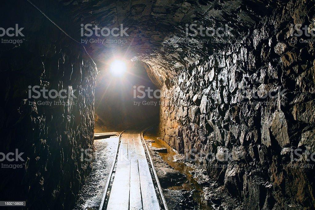 Underground Mine Shaft stock photo