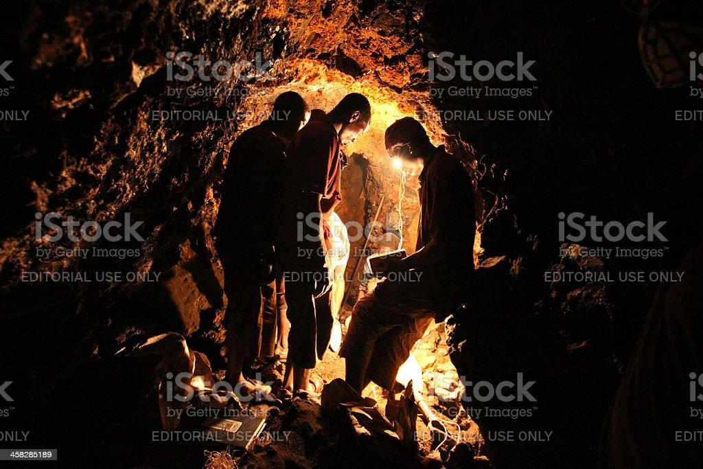 Underground Mining in Africa stock photo