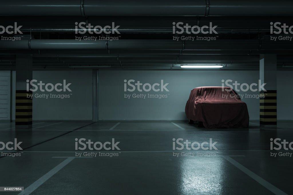 Underground parking background stock photo