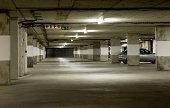istock Underground parking garage 134100694