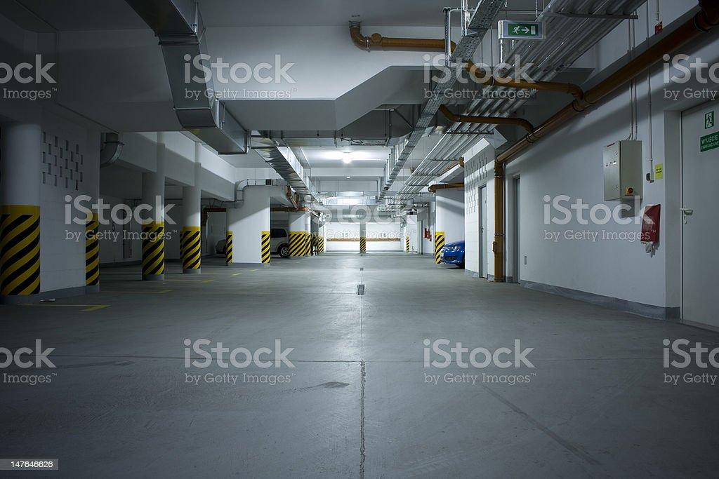 underground parking garage royalty-free stock photo