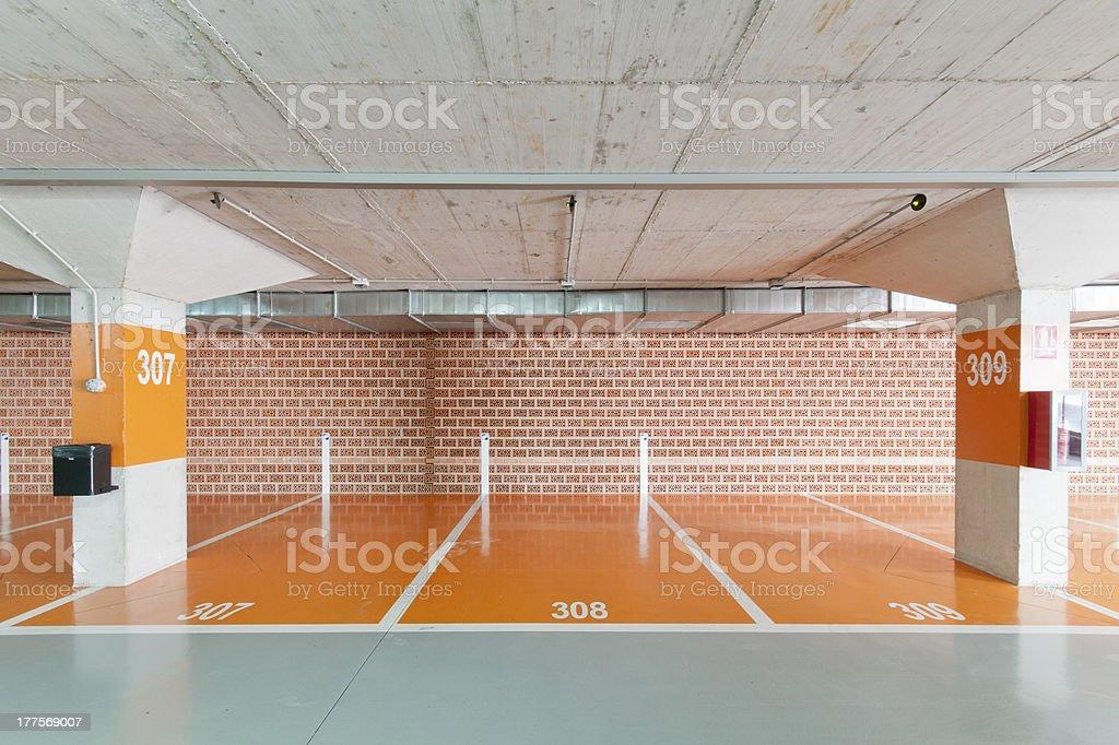 Underground Parking stock photo