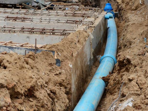 Underground Pipe water stock photo