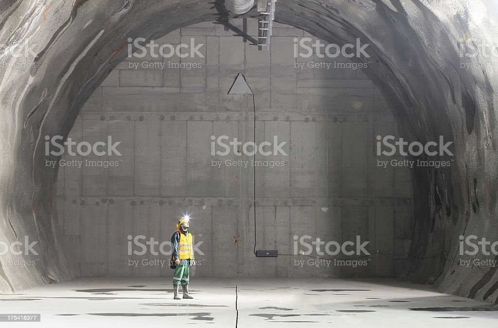 Underground professional worker stock photo