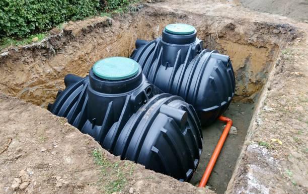 지 하 빗 물 저장 탱크 - 독성 물질 뉴스 사진 이미지