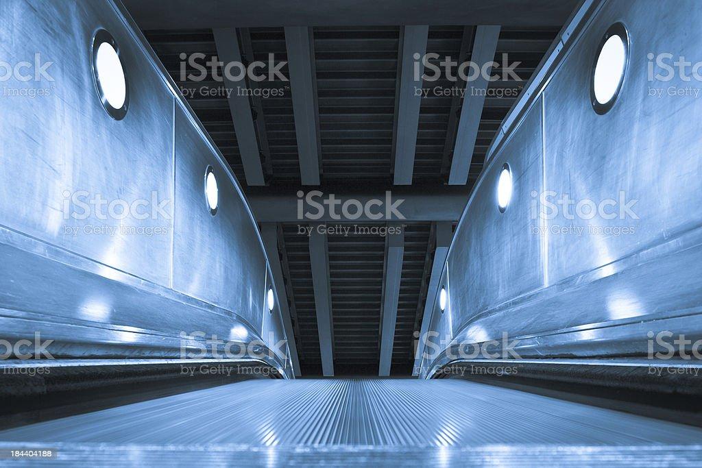Underground Station Escalator royalty-free stock photo