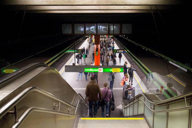 underground station - wien foto e immagini stock