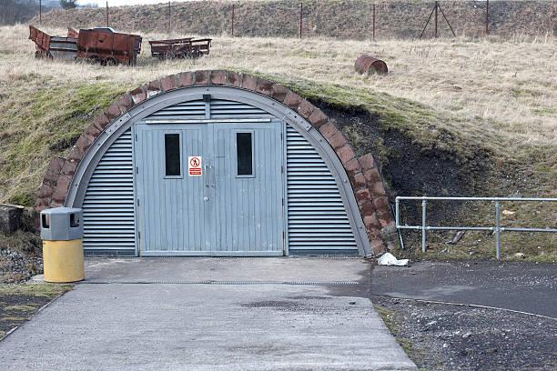 Underground storage bunker Underground storage bunker bomb shelter stock pictures, royalty-free photos & images