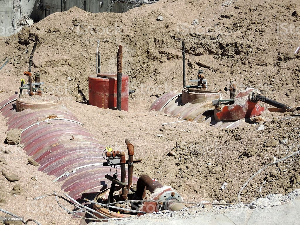 Underground Storage Tanks stock photo