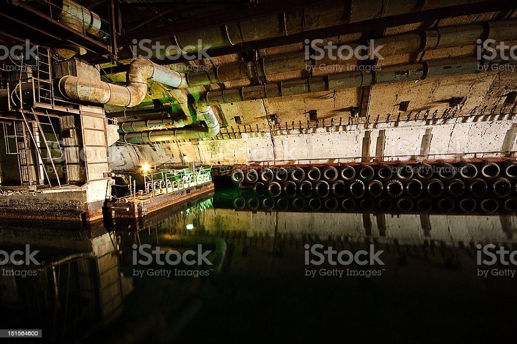 underground submarine base royalty-free stock photo