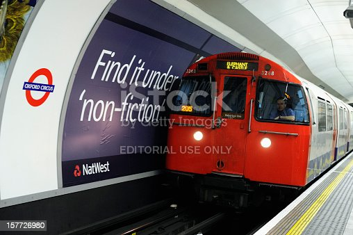 istock Underground Train Entering Oxford Circus Tube Station London 157726980