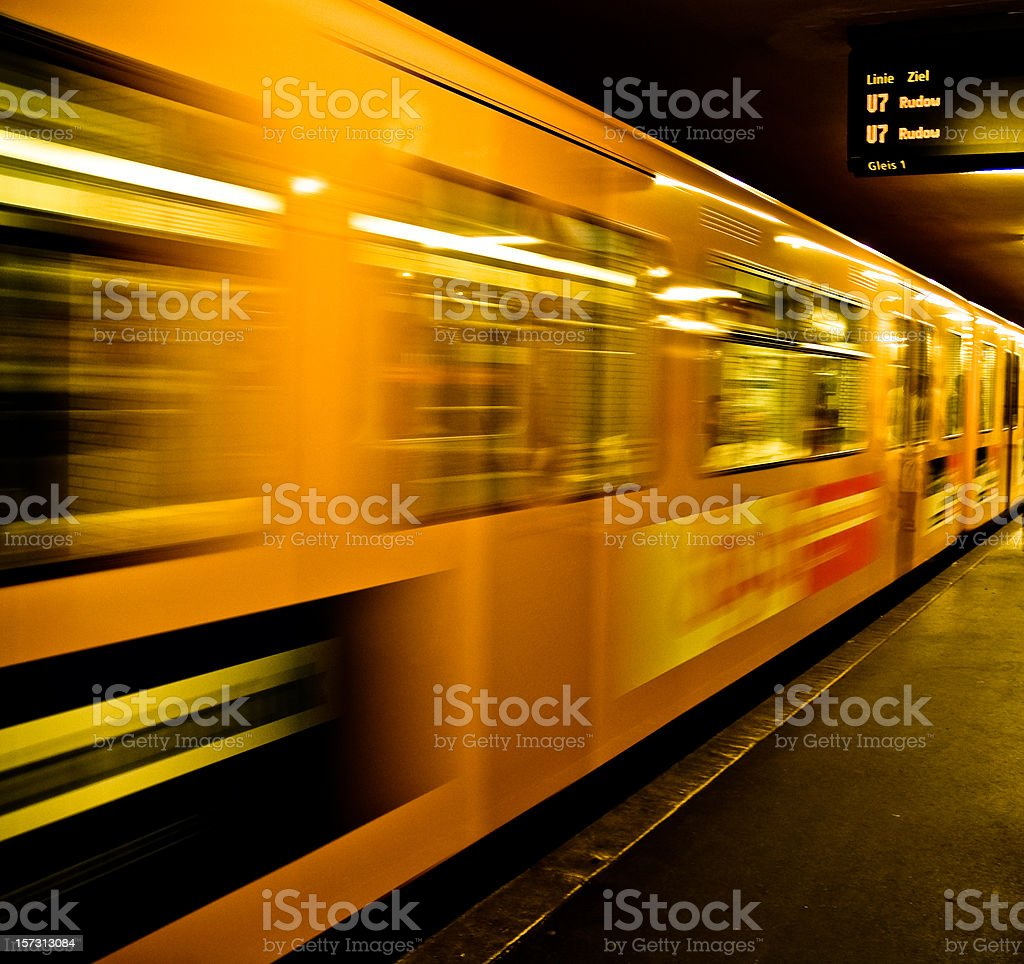 Underground train royalty-free stock photo