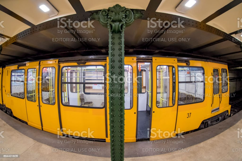 Underground transport in Budapest, Hungary stock photo