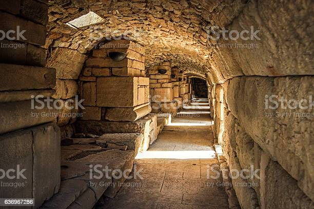 Photo of Underground tunnel in an ancient temple