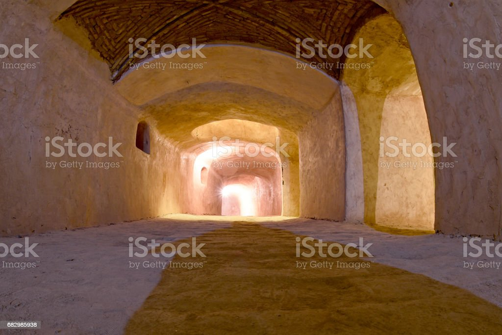 Underground tunnel in Isfahan, Iran. foto de stock royalty-free
